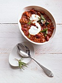 Chilli con carne with lamb