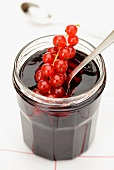 Redcurrant jelly in a screw top jar