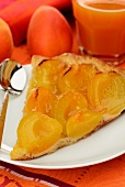 A slice of apricot tart