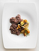 Red wine risotto with wild mushrooms and rosemary