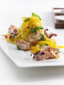 Saffron cappellini with squid