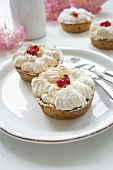 Redcurrant tartlets topped with meringue