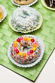 Frosted Doughnut with Sprinkles and Candies;Assorted Doughnuts