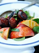 Chorizo with peach and basil (Caribbean)