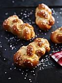 Mini plaited bread rolls