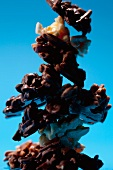 A stack of almond brittle