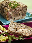 Meat terrine made with three type of meat