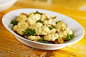 Roasted Cauliflower with Golden Raisins and Parsley
