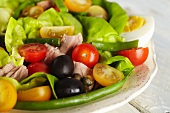 Salad Nicoise; Salad with Tuna, Olives, Capers and Boiled Eggs