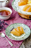 Peach and lavender jelly