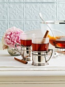 Hot tea punch with honey