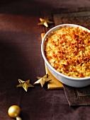 Turnip gratin for Christmas dinner