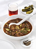 Pfefferpotthast (peppery beef stew from Westphalia, Germany)