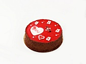 Heart-shaped chocolate cake for Valentine's Day