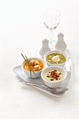 Three different soups