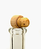 A cork on top of a bottle