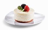 Mini French Vanilla Cheesecake with Berry Garnish