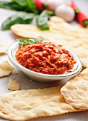 Ajvar with unleavened bread