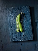 Broad beans in the pod