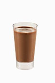 Chocolate Pudding in a Glass; White Background