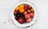 A plate of summer fruits