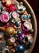 Colourful shiny Christmas baubles