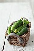 A basket of gherkins