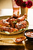Roasted Chicken with Spicy Barbecue Sauce