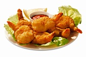 Battered Butterflied Shrimp with Dipping Sauce