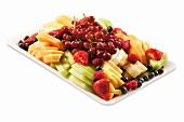 Fruit Platter on a White Background