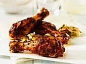 Spicy chicken legs (with Montreal Chicken Rub)
