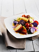 Mixed potato and tomato salad