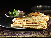 Naan bread with onions