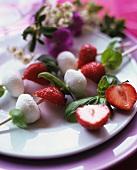 Strawberries with mozzarella