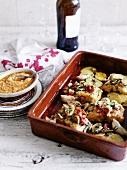 Stockfisch mit Chilischoten und Kartoffeln (Spanien)