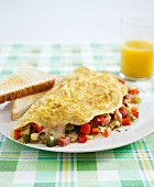 Denver Omelet with Toast; Orange Juice