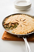 Chicken Pot Pie Cooked in a Skillet