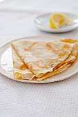 Crepes Folded on a Plate