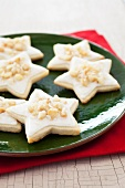 Macadamia Eggnog Cream Star Cookies