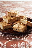 Peanut Butter Blondies on a Plate