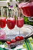Summer strawberry punch