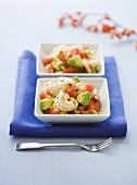 Two Bowls of Shrimp and Avocado Salad
