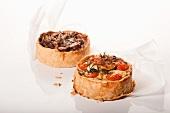 Two Individual Pizzas; Tomato Mozzarella and Mushroom
