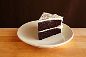 Chocolate Layer Cake with Vanilla Frosting and Colored Sprinkles