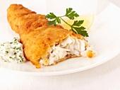 Breaded haddock with sauce tartare