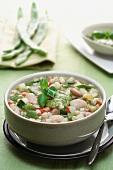 Minestrone al pistou (vegetable soup with pistou)