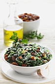 Spinaci parmigiano e uvetta (spinach with Parmesan and raisins)