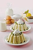 Vanilla pudding with pistachios