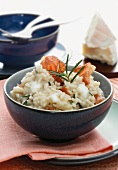 Risotto con lo speck (risotto with bacon, cheese and rosemary)