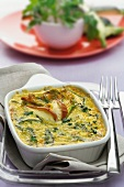 Courgette and egg bake